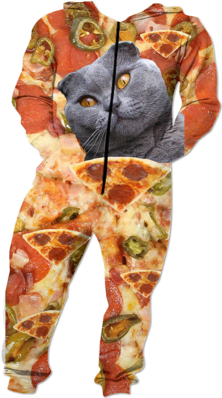 Cat and Pizza Onesie