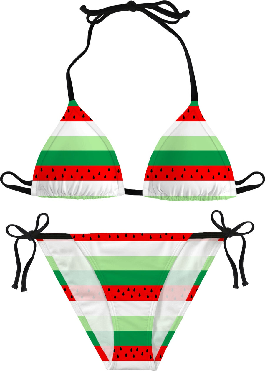 watermelon stripe bikini