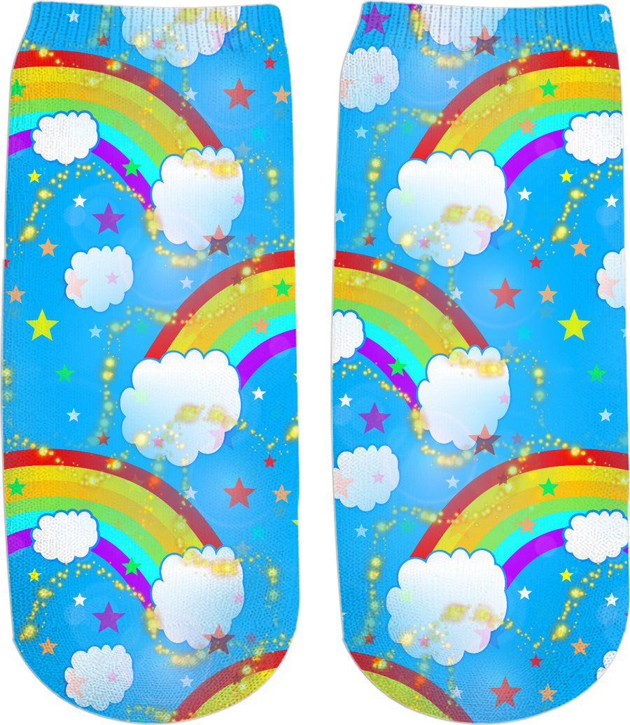 Somewhere Over The Rainbow Ankle Socks