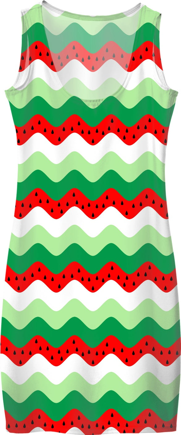 watermelon rickrack dress