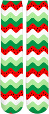 watermelon rickrack socks