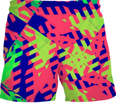 90s Throwback Geo Swim Trunks