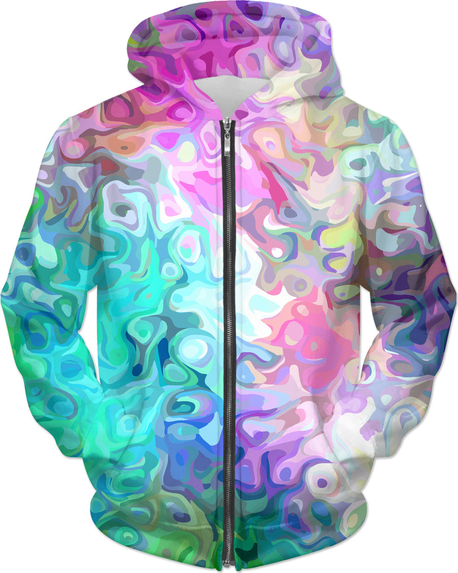 Pastel Confusion Abstract Hoodie