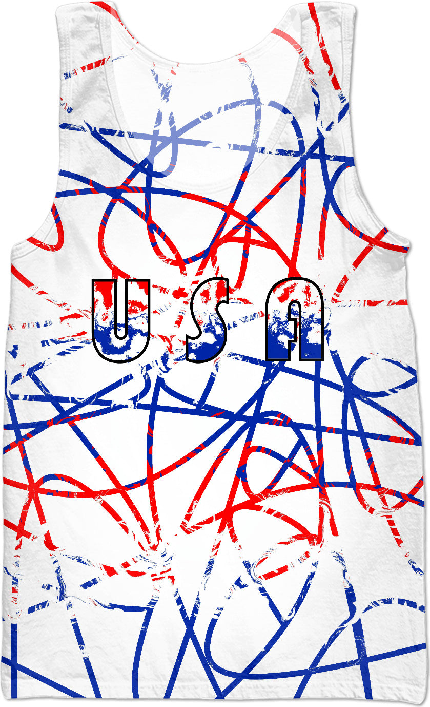 USA Scribble On White