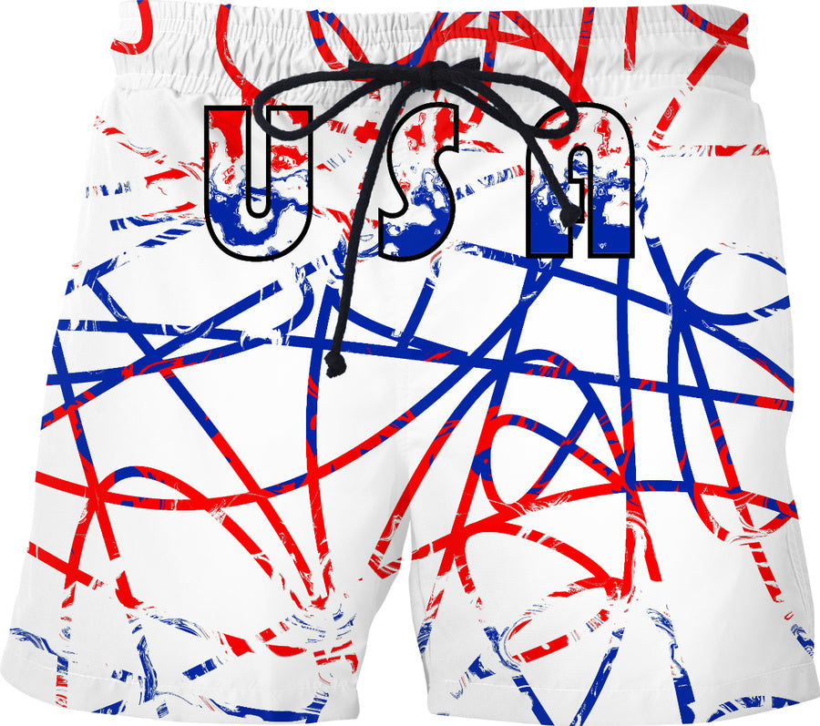 USA Scribbles On White