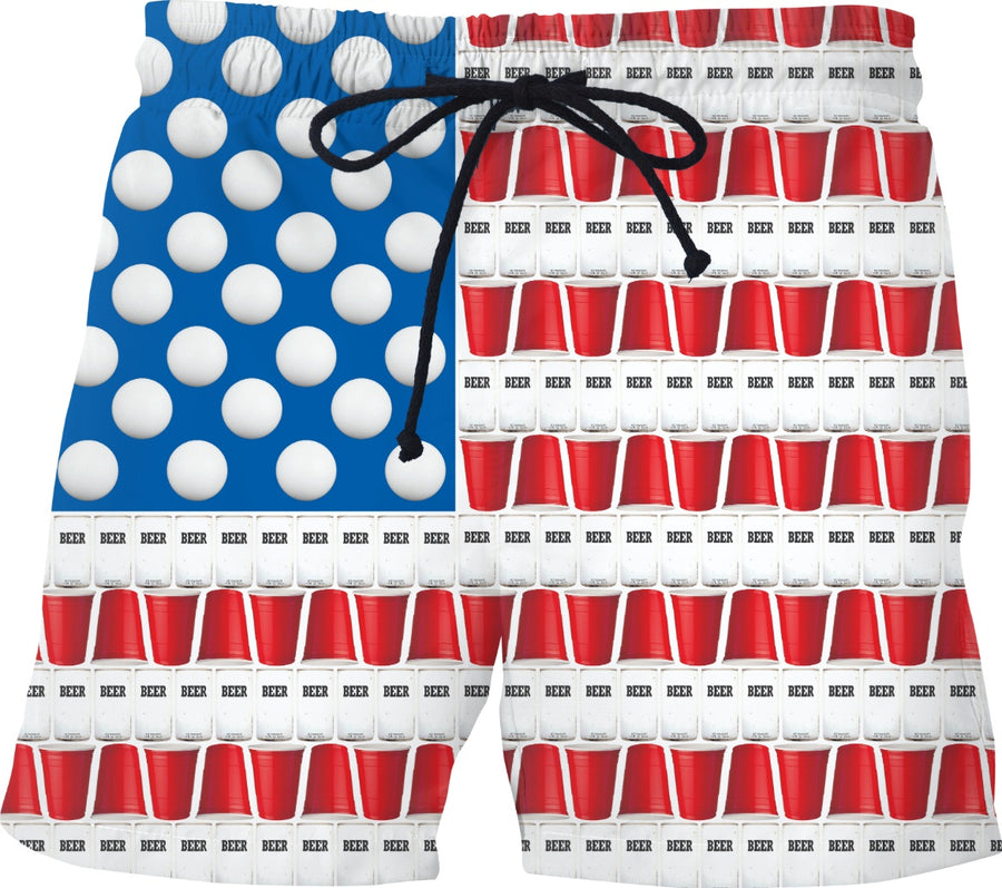 The Great American Pastime Swim Shorts