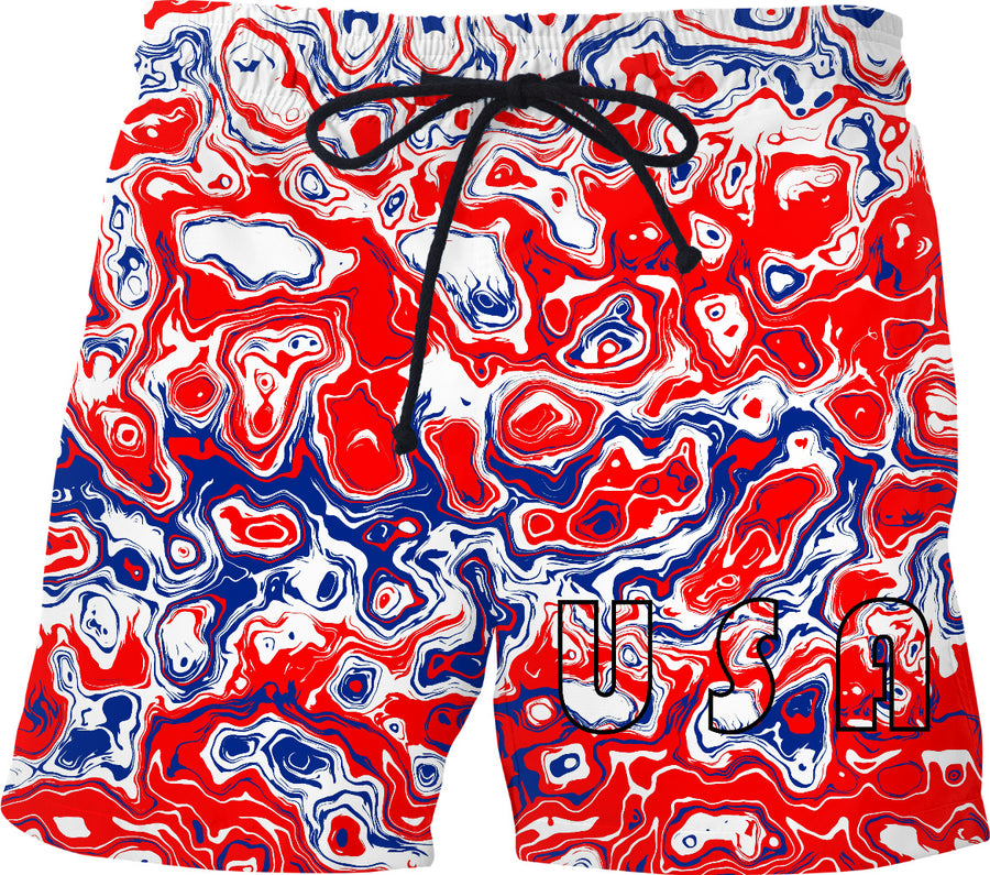 USA Absract Swim Shorts
