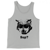 Sup Wolf with Sunglasses Tank Top