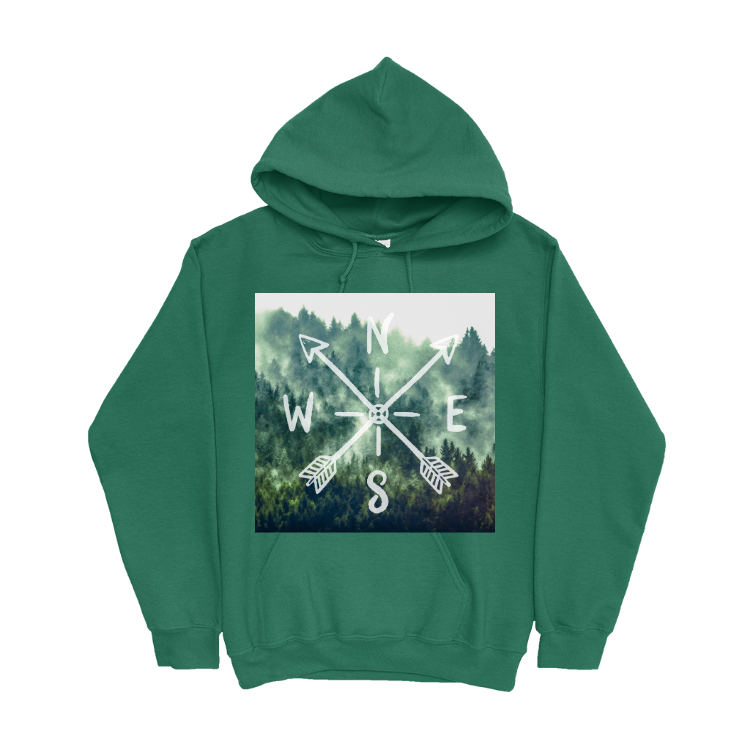 Forest Compass Pullover Hoodie