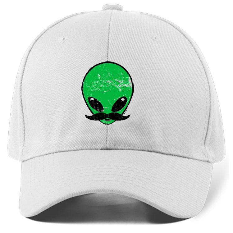 Mustache Alien Dad Hat