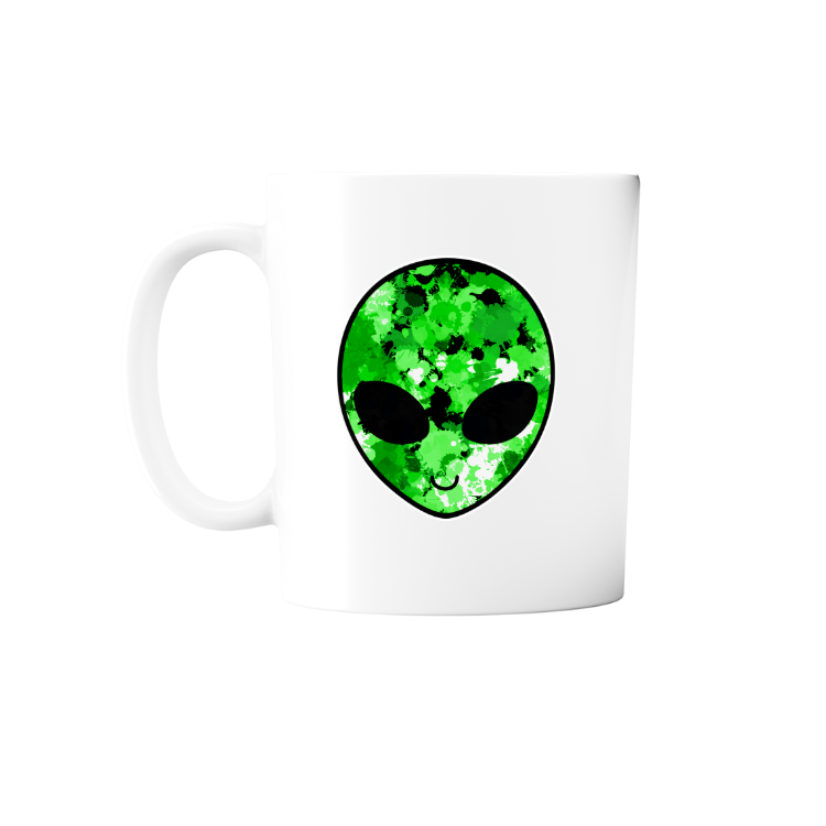 Green Alien Head Mug