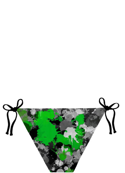 Green and Grey Paint Splatter Bikini