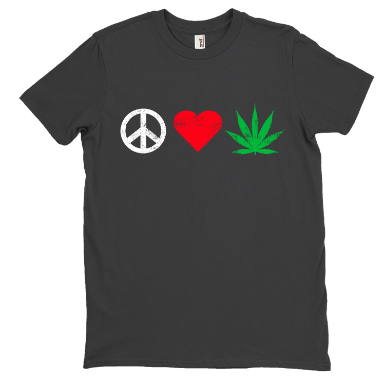 Peace, Love, Weed T-Shirt