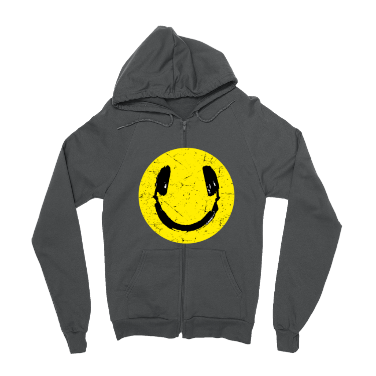 Music Smiley Zip-Up Hoodie