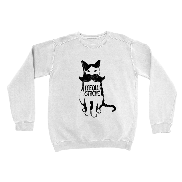 Meowstache Cat Sweatshirt