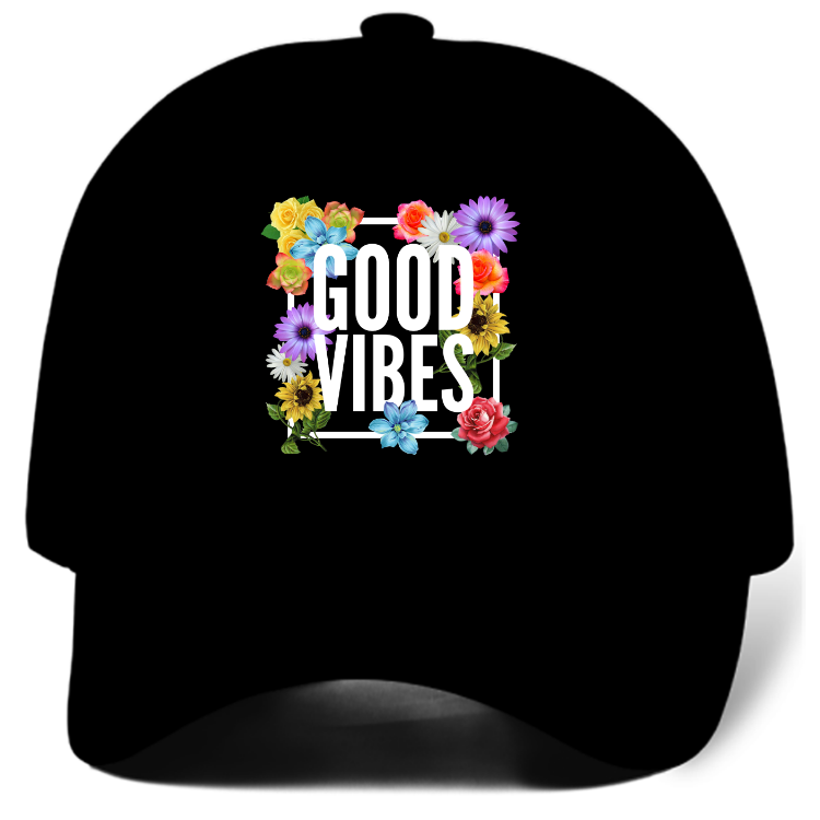 Good Vibes Black Dad Hat