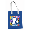 Good Vibes Blue Canvas Tote