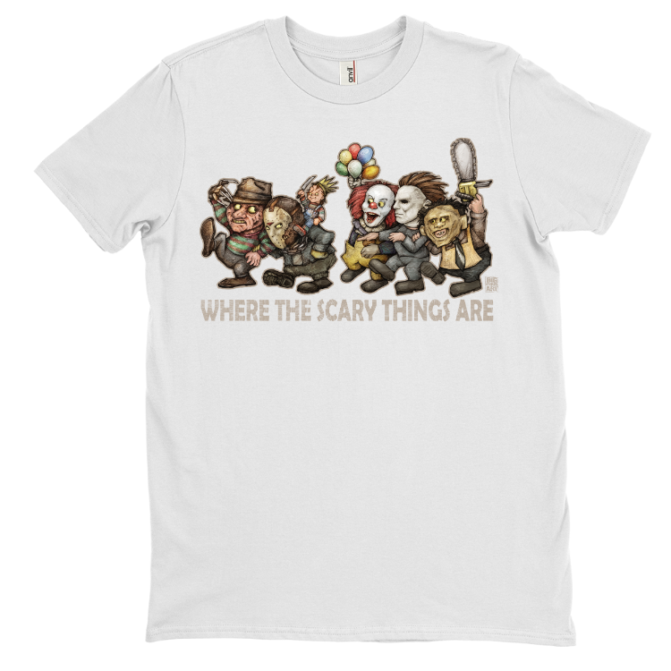 """Where the Scary Things Are"" By Big Chris T-Shirt"
