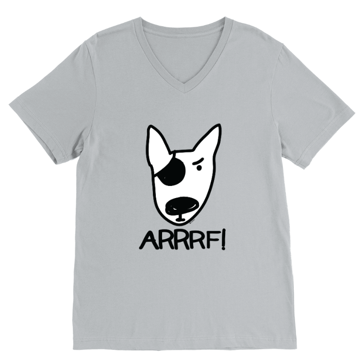 ARRRF! Pirate Dog V-Neck T-Shirt