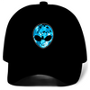 Blue Alien Head Hat (Black)