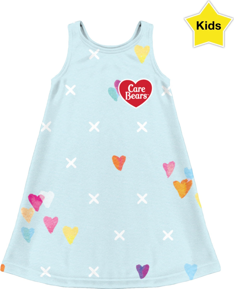 Care Bears Blue Pattern Kids Dress