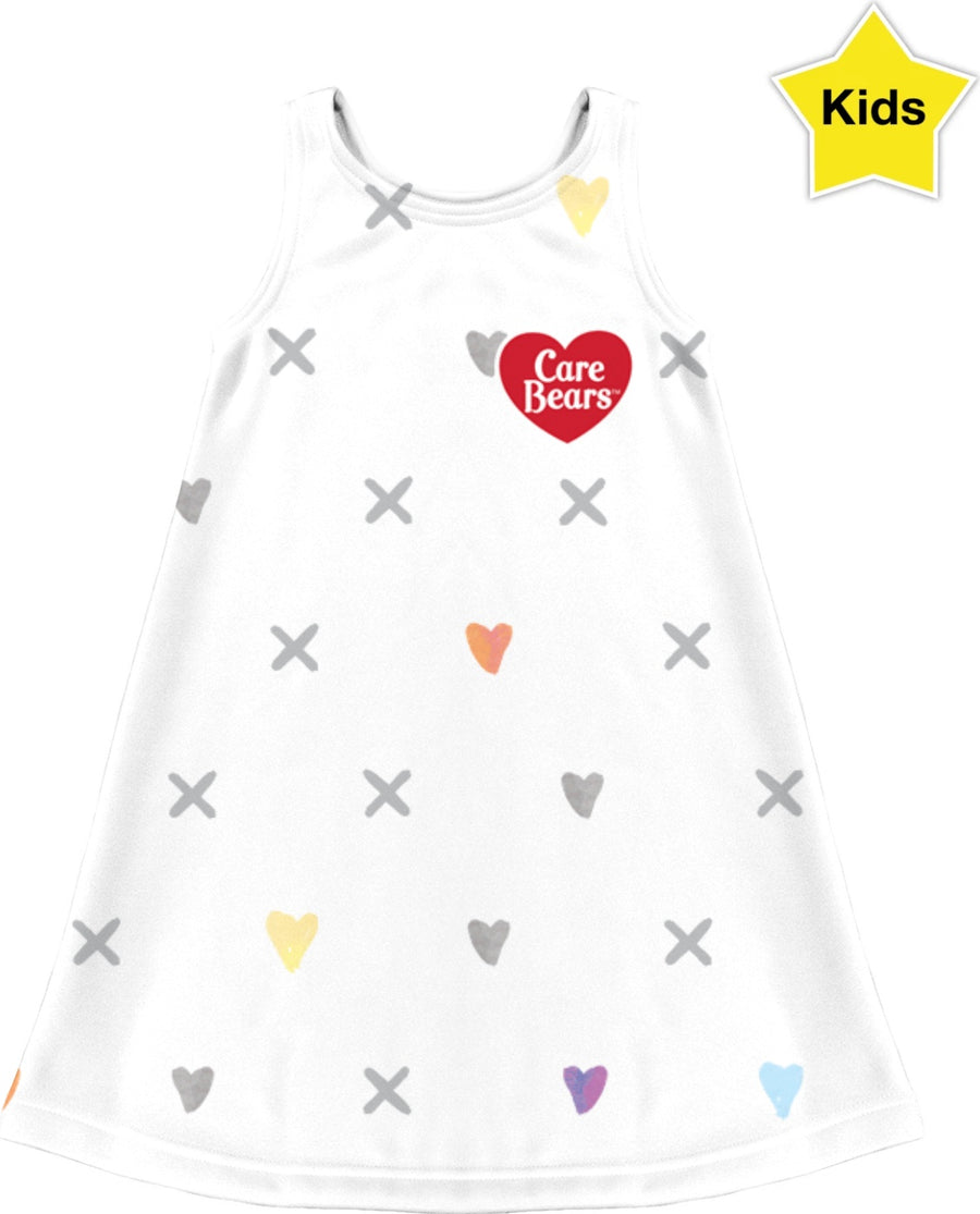 Care Bears White Pattern Kids Dress