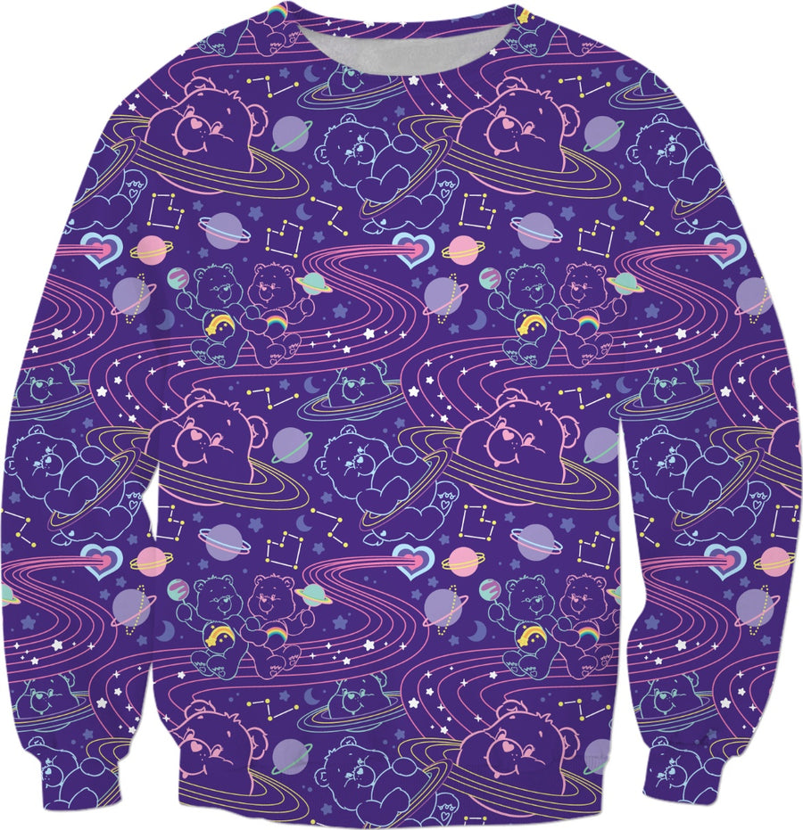 Cosmic Care Bears Inverted Sweatshirt