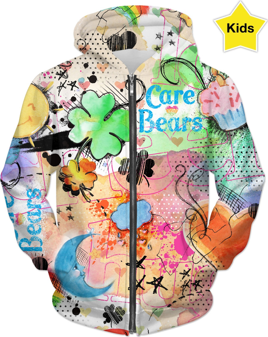 Care Bears Watercolor Kids Hoodie