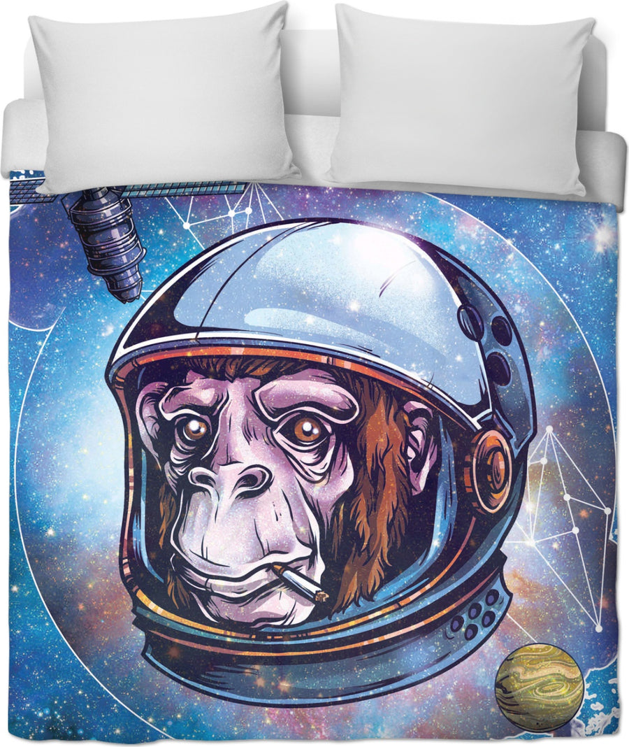 Space Chimp - Duvet Cover