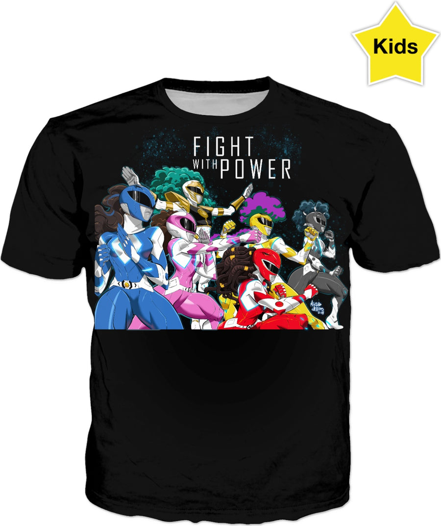 Fight with Power (Black Kids Shirt)