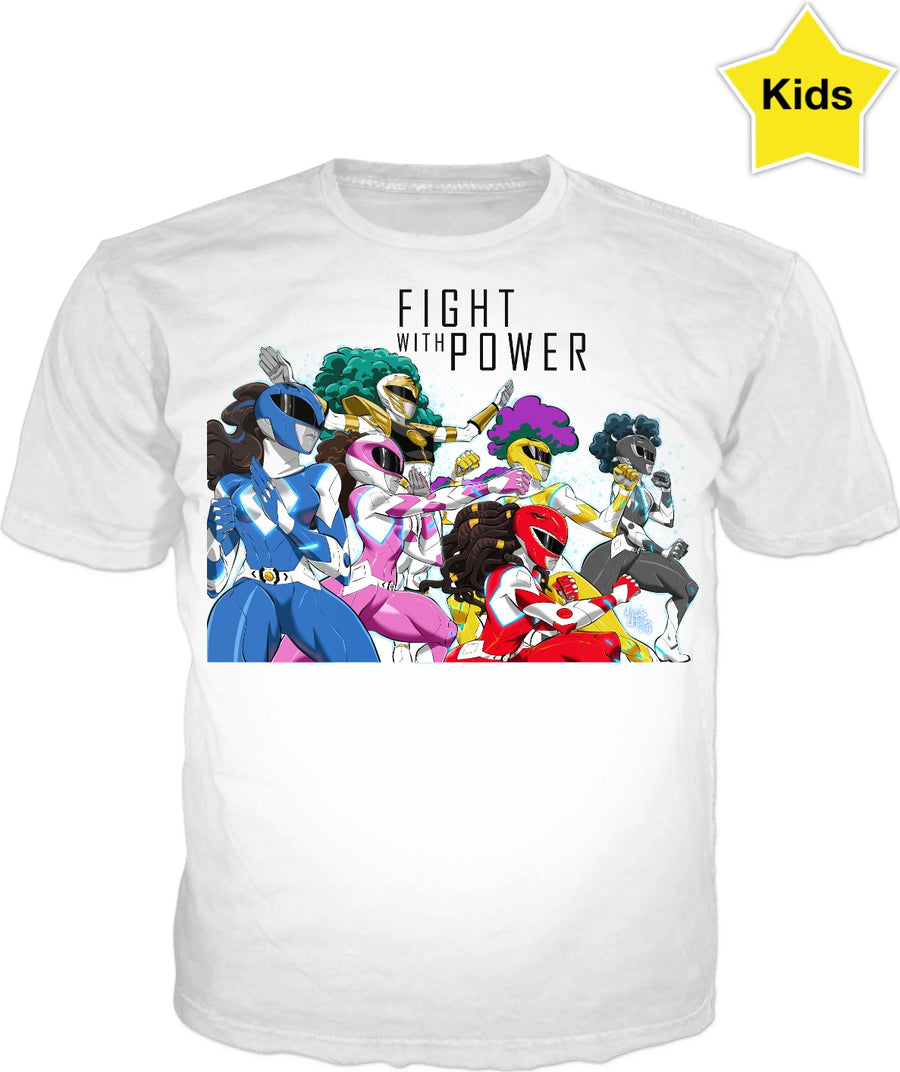 Fight with Power (White Kids Shirt)