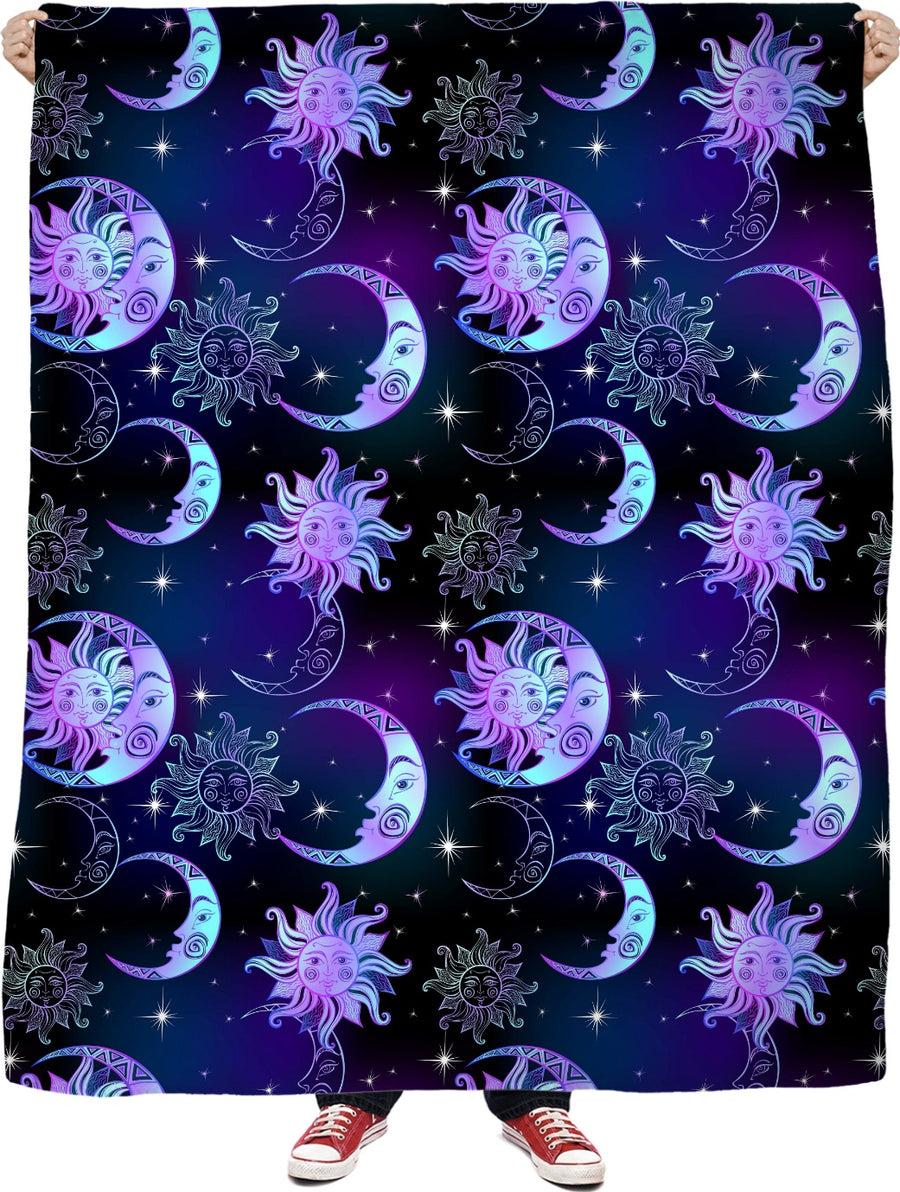 Sun and Moon - Fleece Blanket