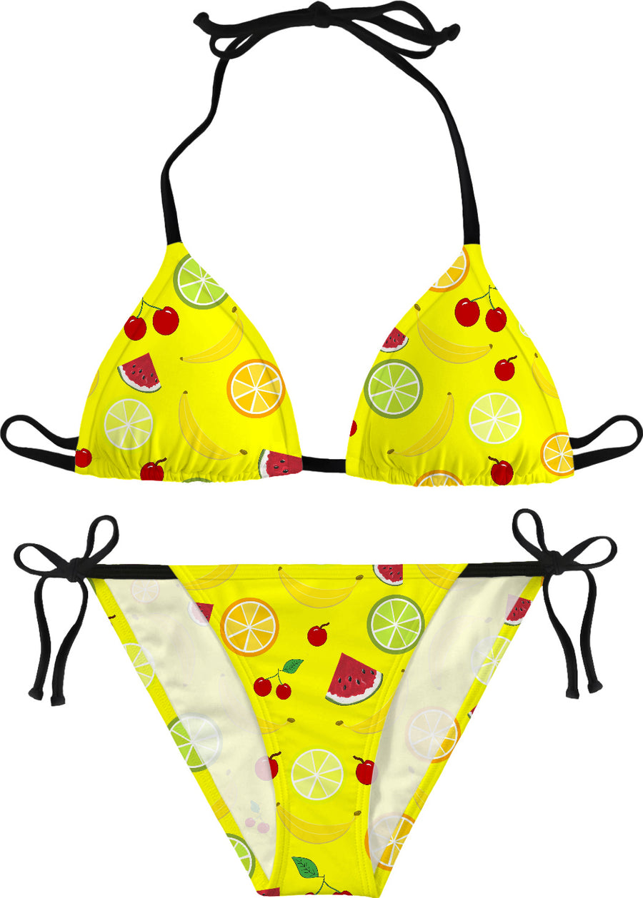 Mixed Fruit Yellow Bikini