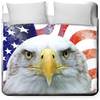 American Flag and Bald Eagle Queen Duvet Cover