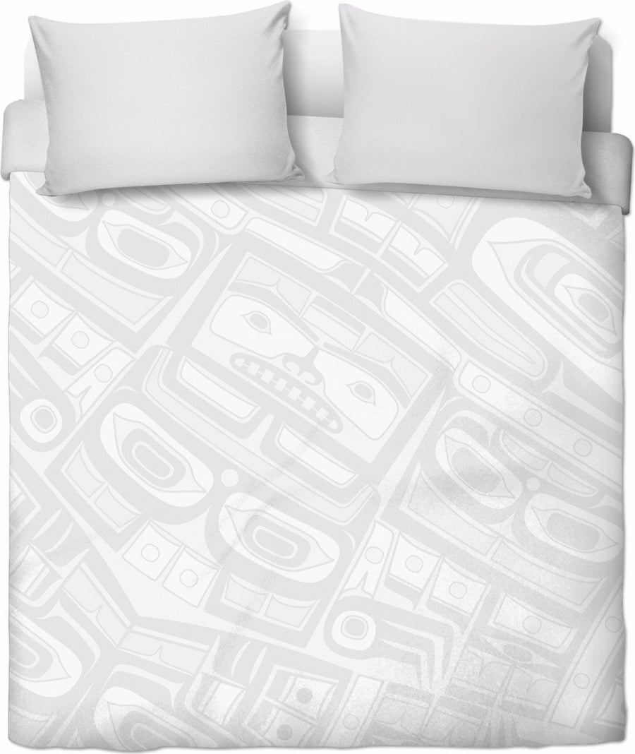 Silver Chilkat Duvet cover