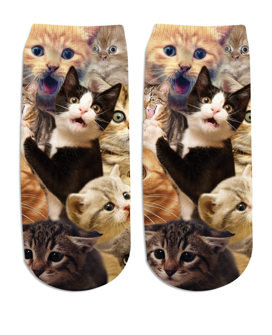 Surprised Cats Ankle Socks