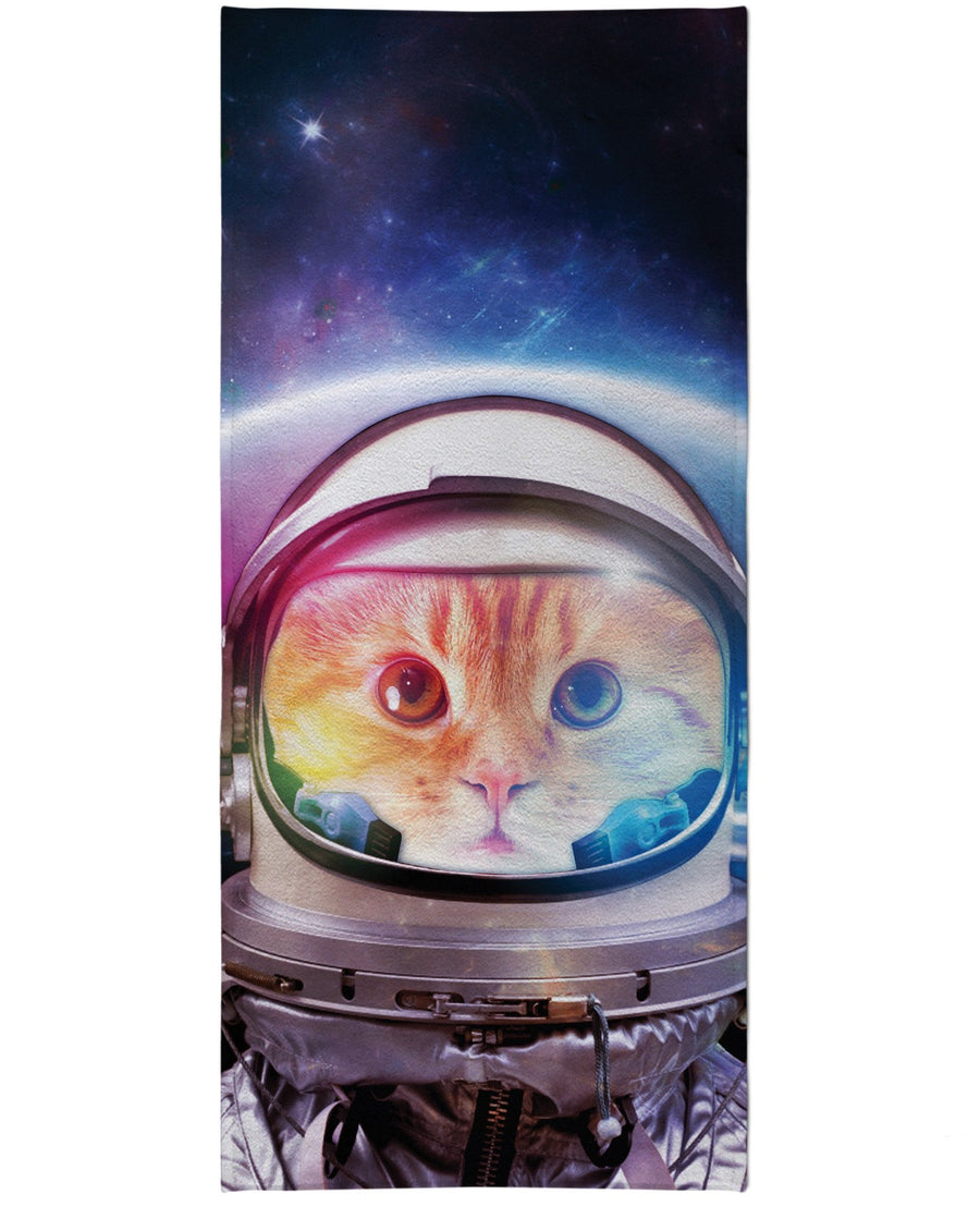 Space Cat Beach Towel