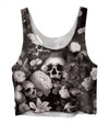 Skulls & Flowers Crop Top