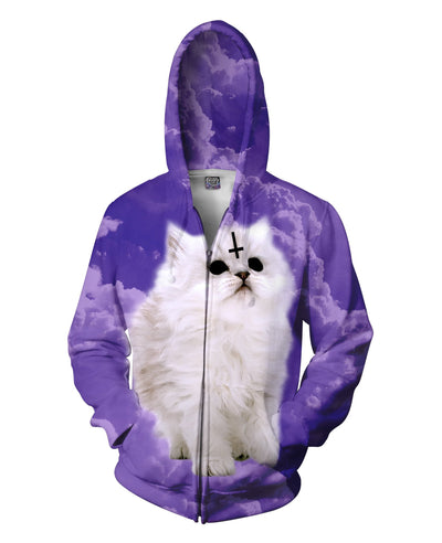 Satan Cat Zip-Up Hoodie