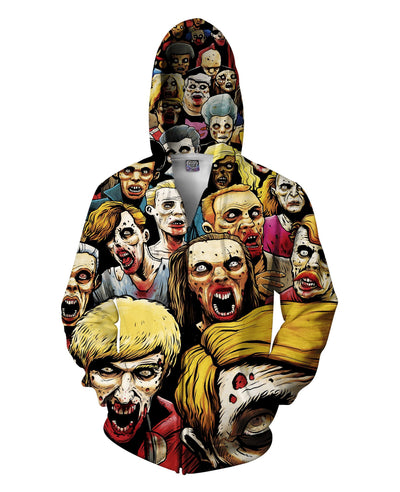 Zombies at the Mall Zip-Up Hoodie