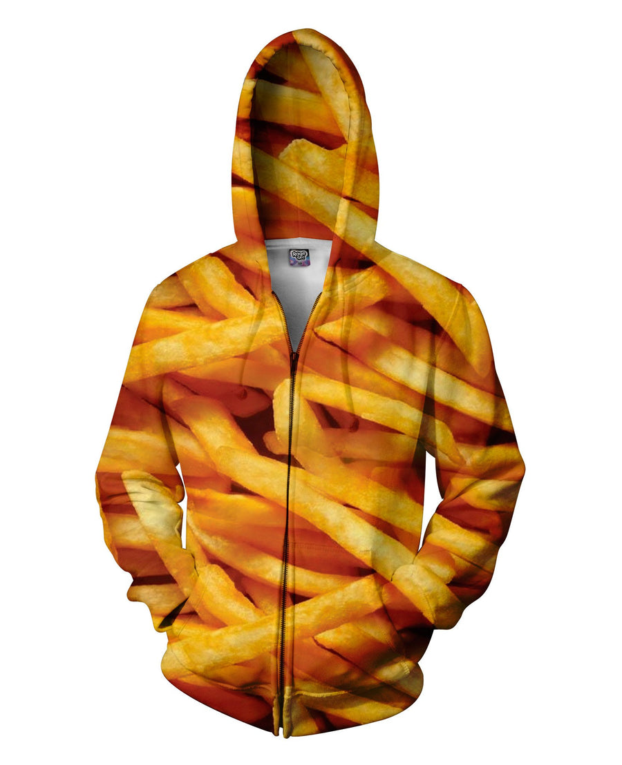 French Fries Zip-Up Hoodie