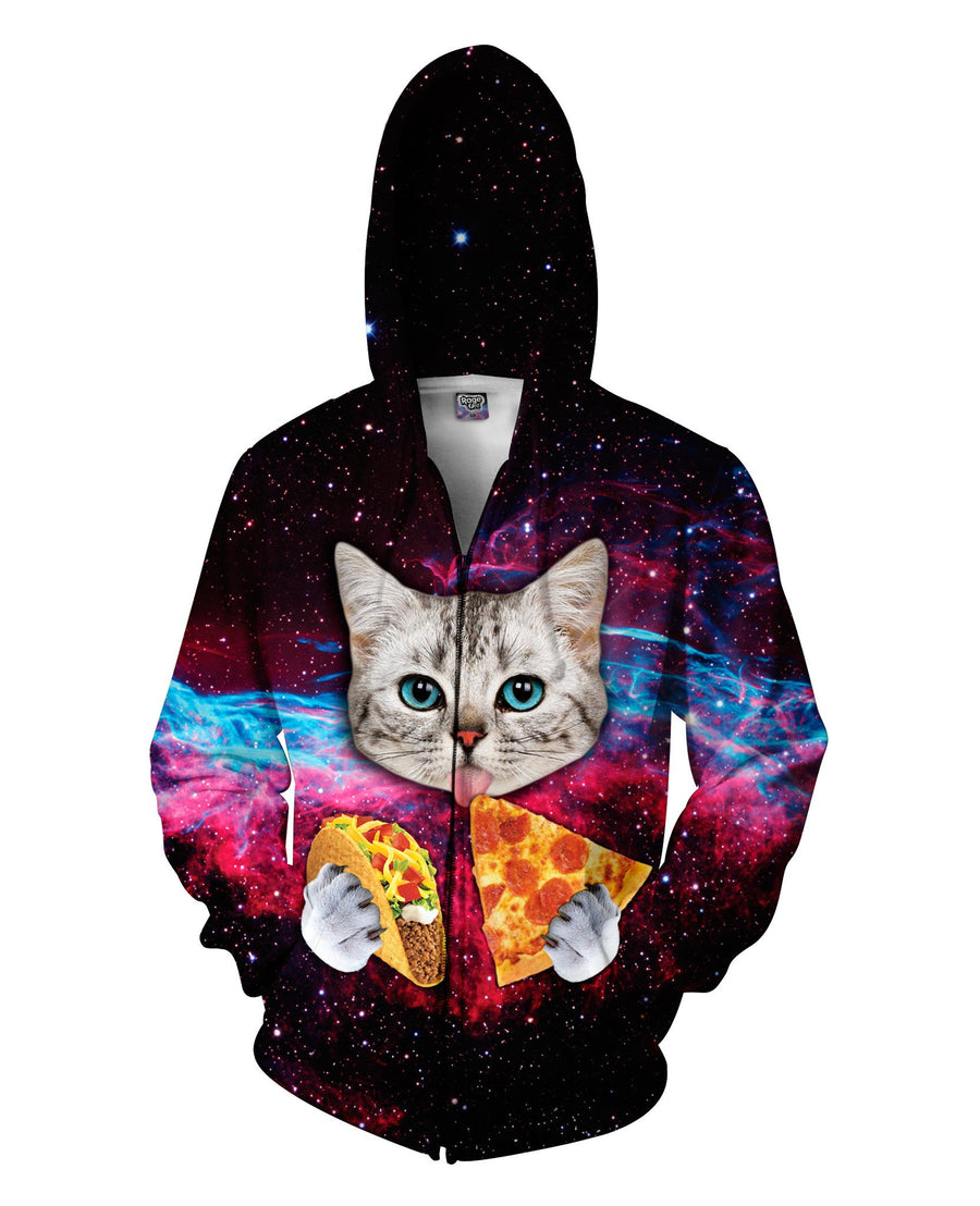 Taco Cat Zip-Up Hoodie