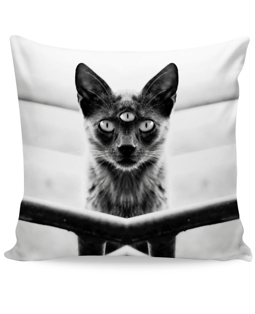 Third Eyed Cat Couch Pillow