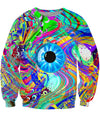 Oil Spill Eye Melt Crewneck Sweatshirt
