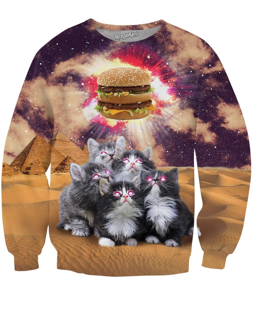 Worship the Burger Crewneck Sweatshirt