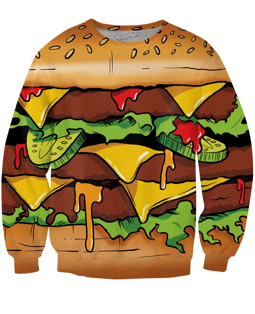 Tasty Burger Crewneck Sweatshirt