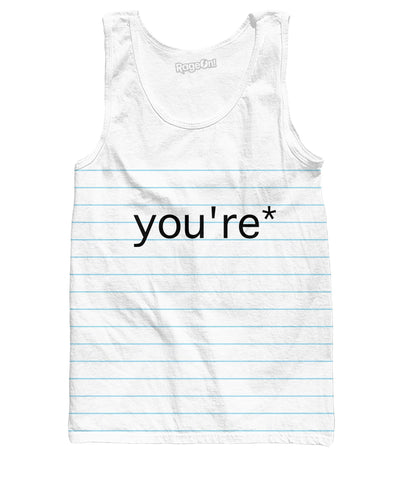 Good Grammar You're* Tank Top