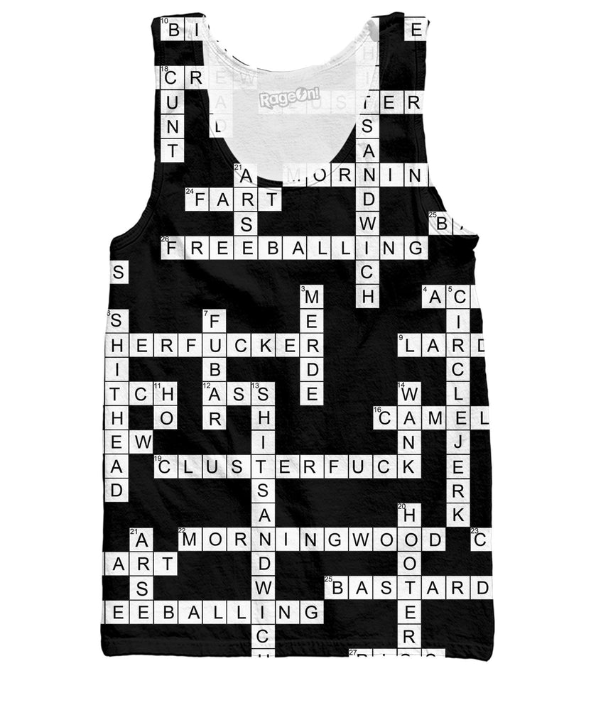Dirty Crossword Puzzle Tank Top