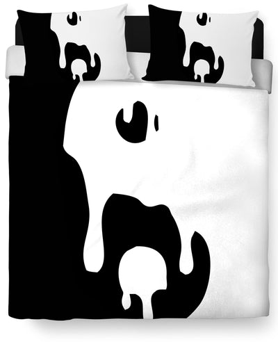 Big Drippy Yin Yang Duvet Cover and Pillow Case Combo