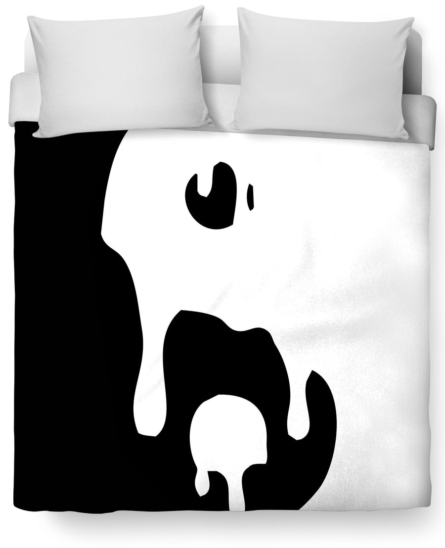 Big Drippy Yin Yang Duvet Cover